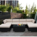 Genuine Ohana Outdoor Patio Wicker Furniture 7pcs All Weather Gorgeous Couch Set-1