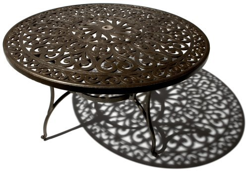 Strathwood Cast Aluminum Round Patio Dining Table