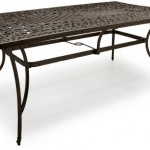 Strathwood St Thomas Rectangular Cast Aluminum dining Table