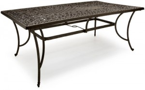strathwood st thomas rectangle patio dining table
