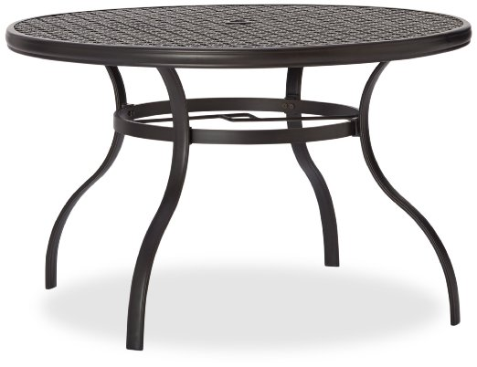 Strathwood Whidbey Cast Aluminum Round Dining Table
