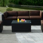 all weather wicker patio furniture 7 pc set