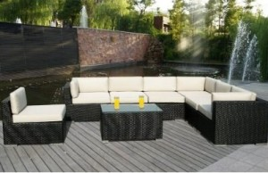 genuine ohana 8 piece wicker patio set