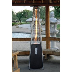 Golden Flame Quartz Glass Tube Pyramid Style Patio Heater