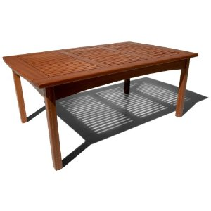 Strathwood gibranta all weather hardwood coffee table for Cheap outdoor coffee table