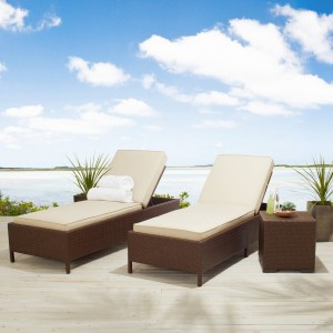 Strathwood Griffen All-Weather Wicker Chaise Lounge