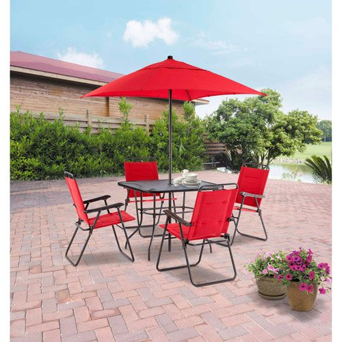 Mainstays Searcy Lane 6-piece Padded Folding Patio Dining Set