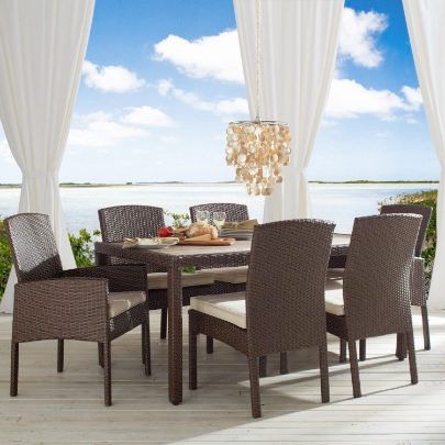 Strathwood Griffen All-Weather Wicker and Resin Dining Table