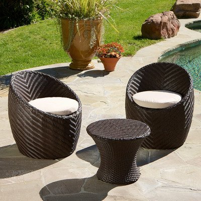 La Mesa 3-Piece Chat Set