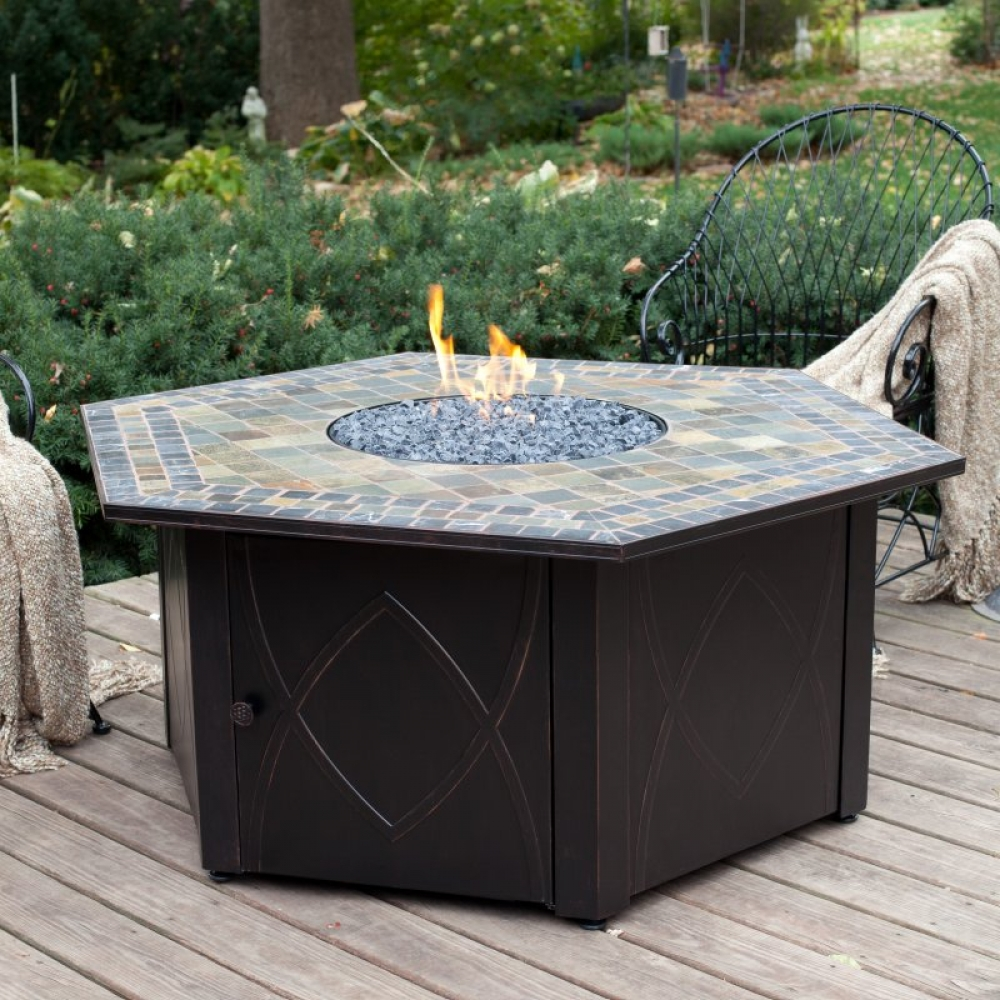 GAS LP Firepit Table