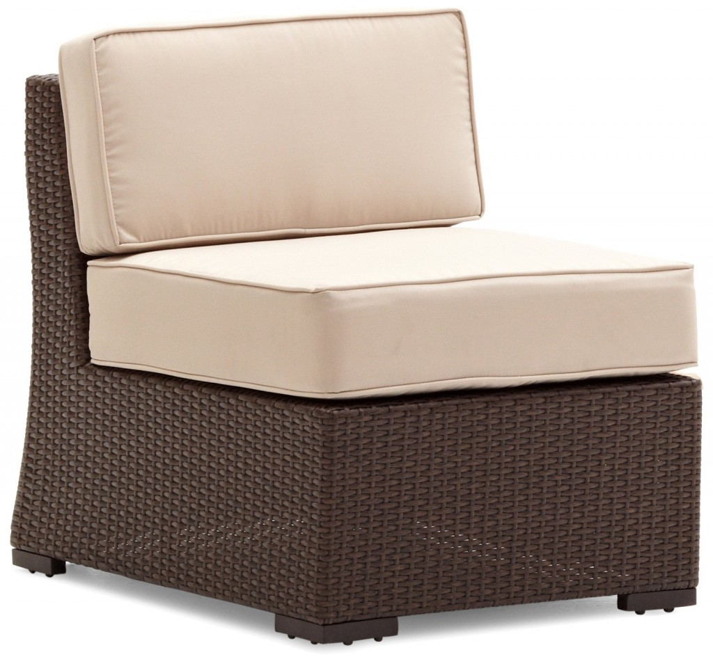 Strathwood Griffen All-Weather Wicker Sectional Armless Chair