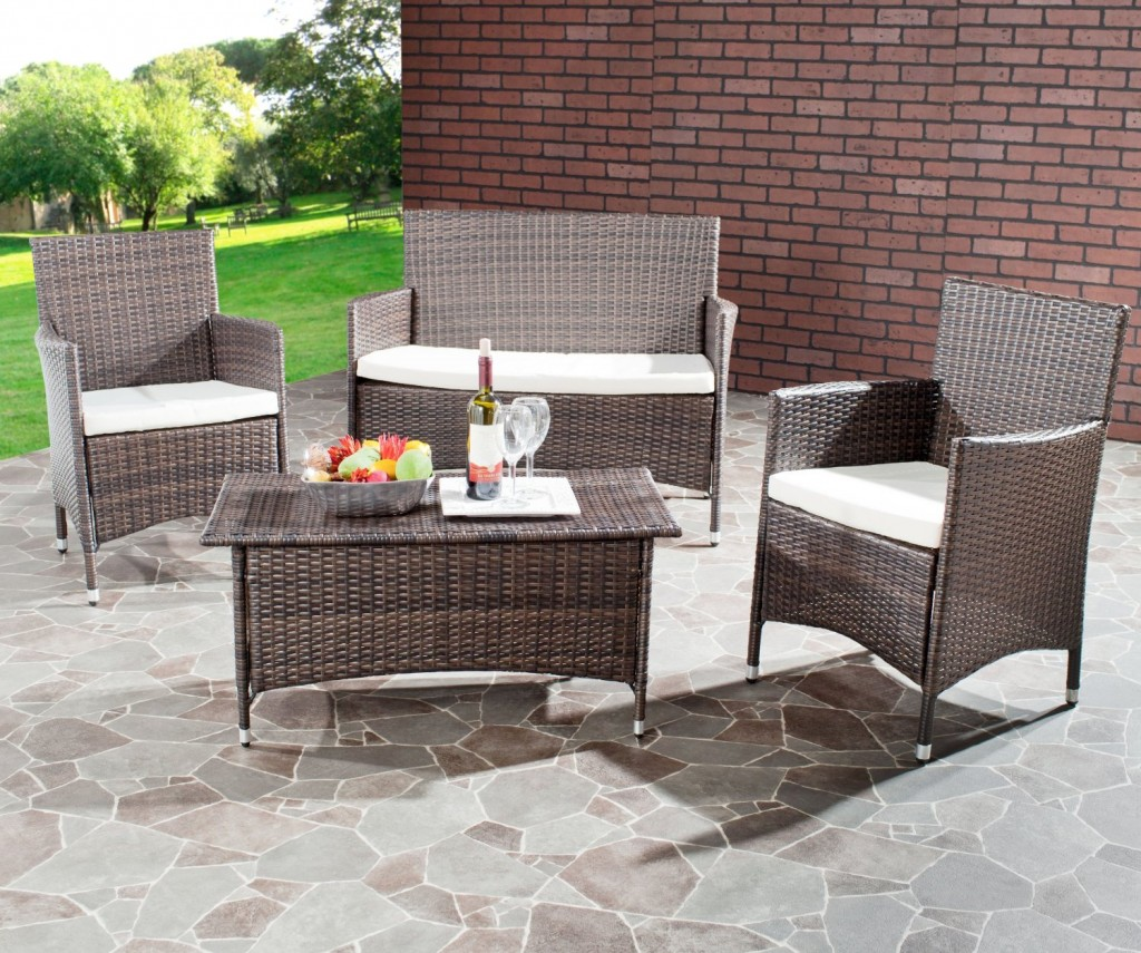 Manning Brown 4 Piece Wicker Set