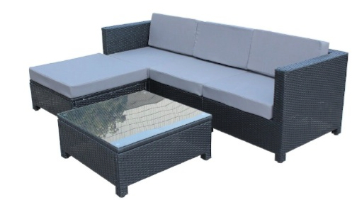 5 Pcs Luxury Wicker Patio Sectional Indoor Outdoor Sofa Furniture Set