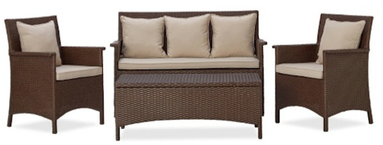 Strathwood All-Weather Wicker 4-Piece Furniture Set
