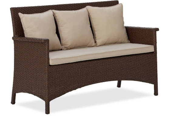 Strathwood all weather wicker set_couch