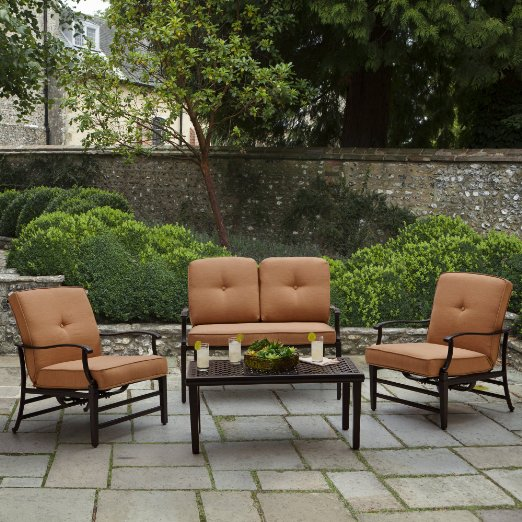 Strathwood Whidbey 4 Piece Outdoor Seating Set