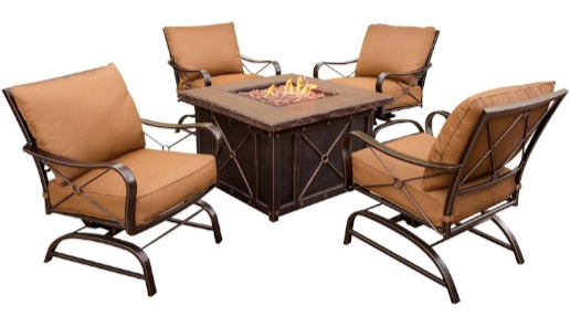 Hanover SUMMRNGHT5PC Summer Night 5-Piece Gas Fire Pit Set