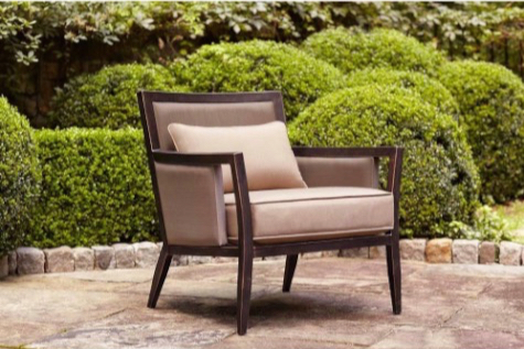 Brown Jordan Greystone Patio Lounge Chair in Sparrow